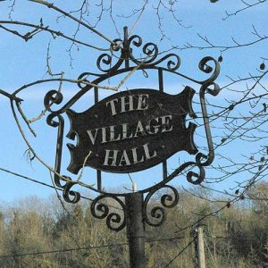 hughenden village hall sign